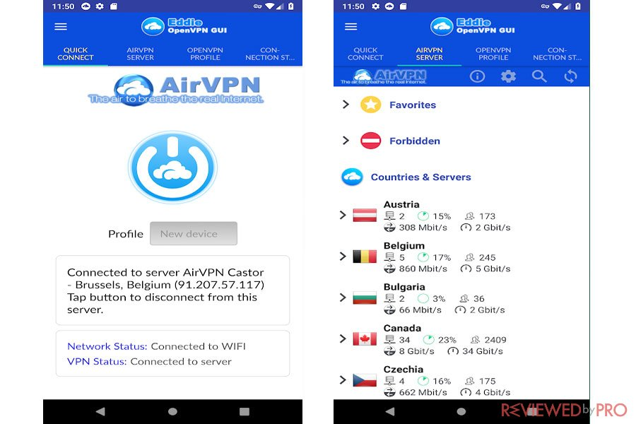 AirVPN Mobile Connect