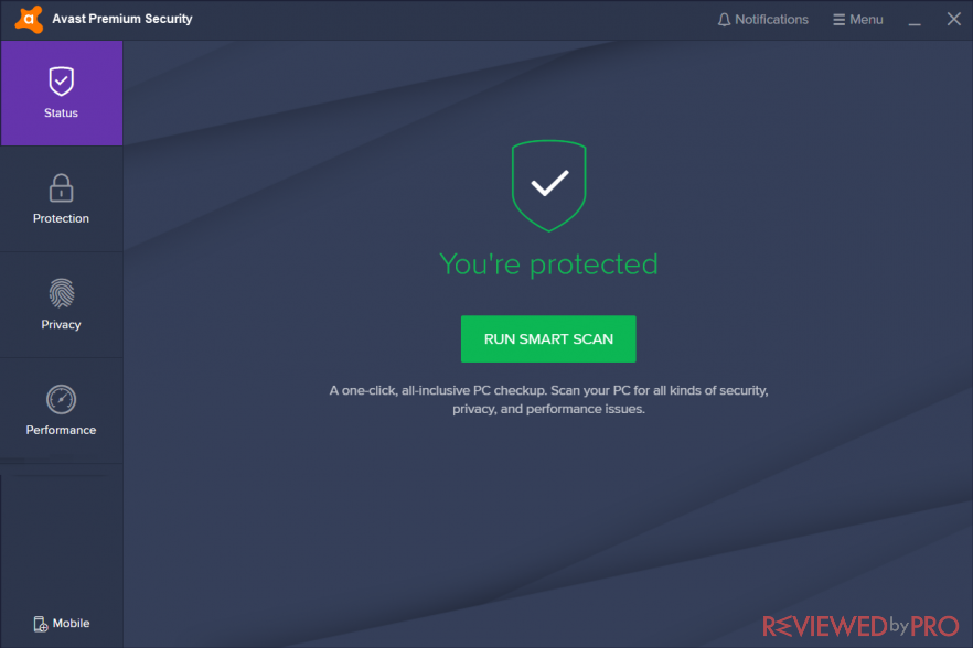 avast 2020 user interface