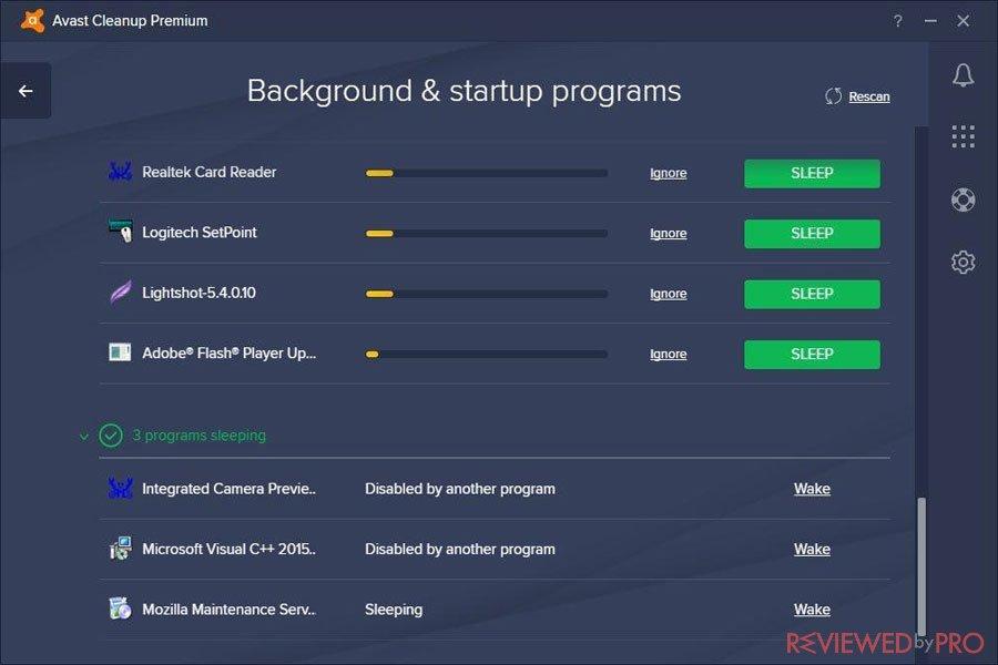 Avast CleanUp Premium processes