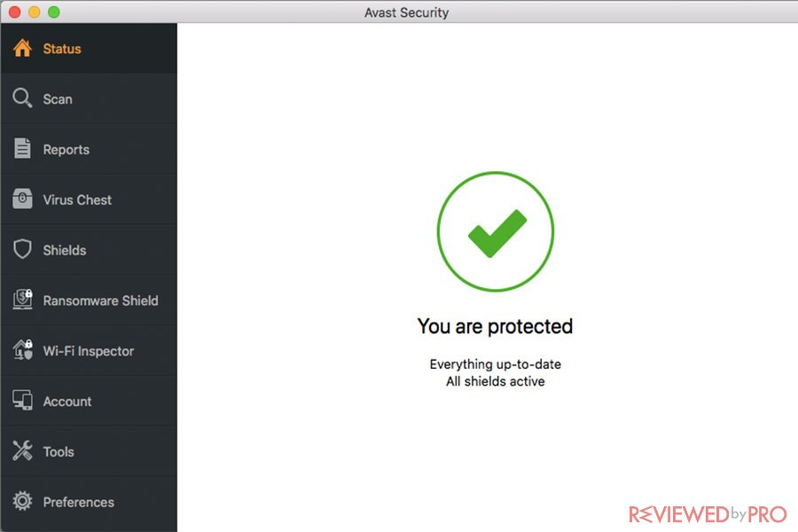 avast security for mac protected