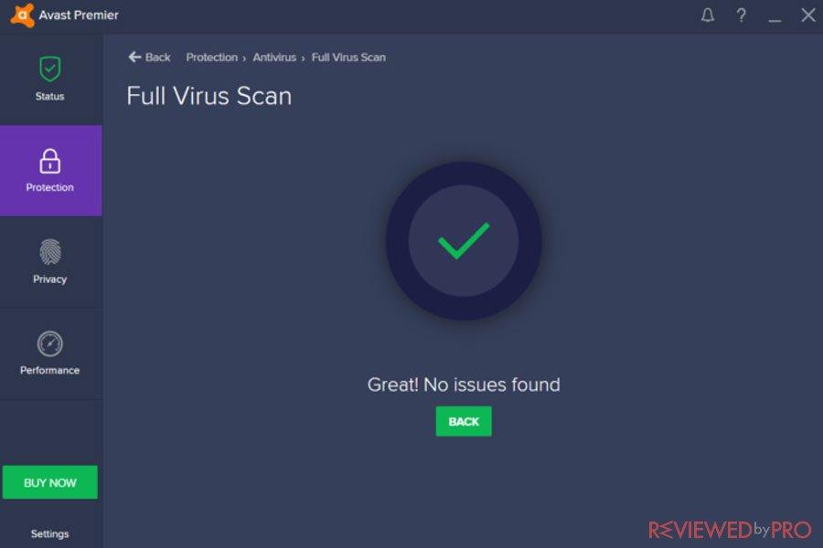 Avast Virus Scan