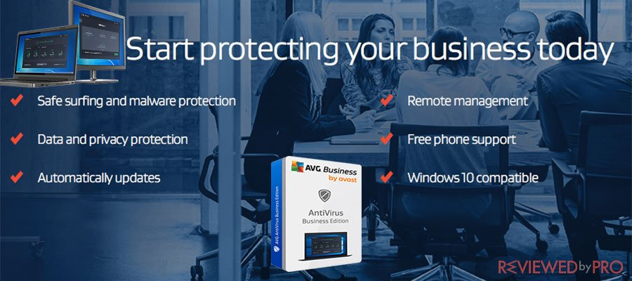 AVG start protecting business