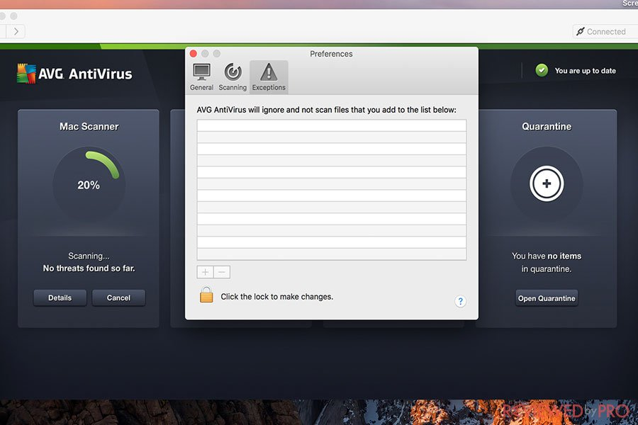AVG free mac security