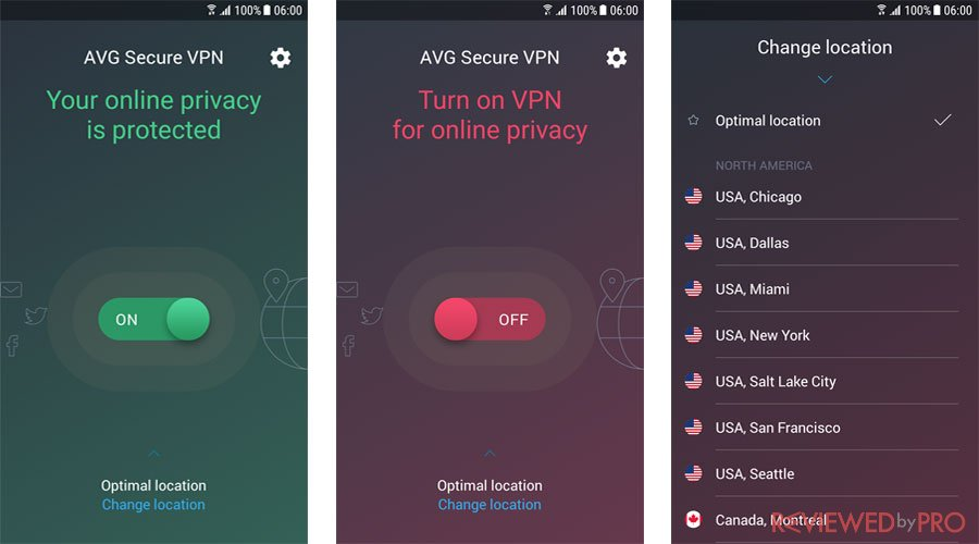 avg free blocking vpn