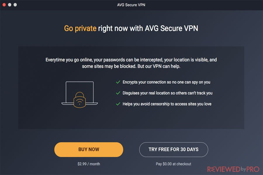 AVG secure VPN trial