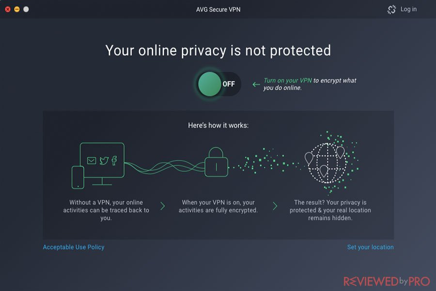 AVG Secure VPN protection