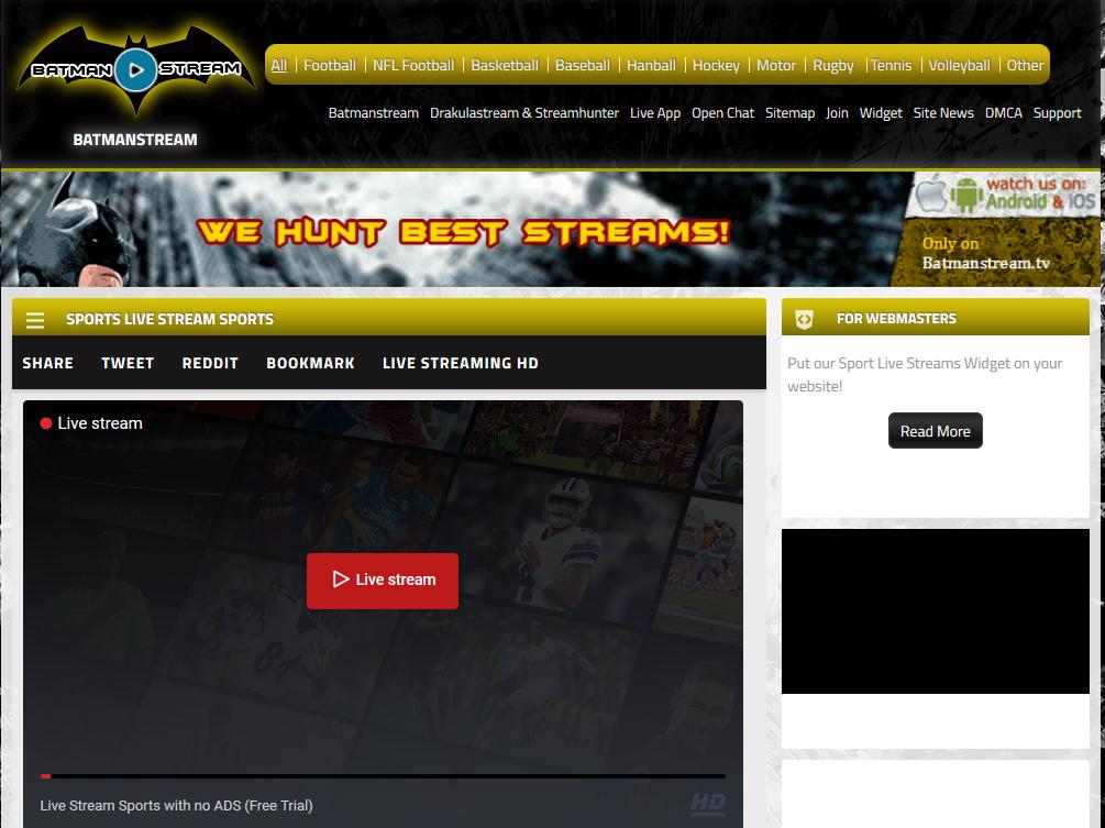 Free Online Sport streaming platform - batman-stream.tv