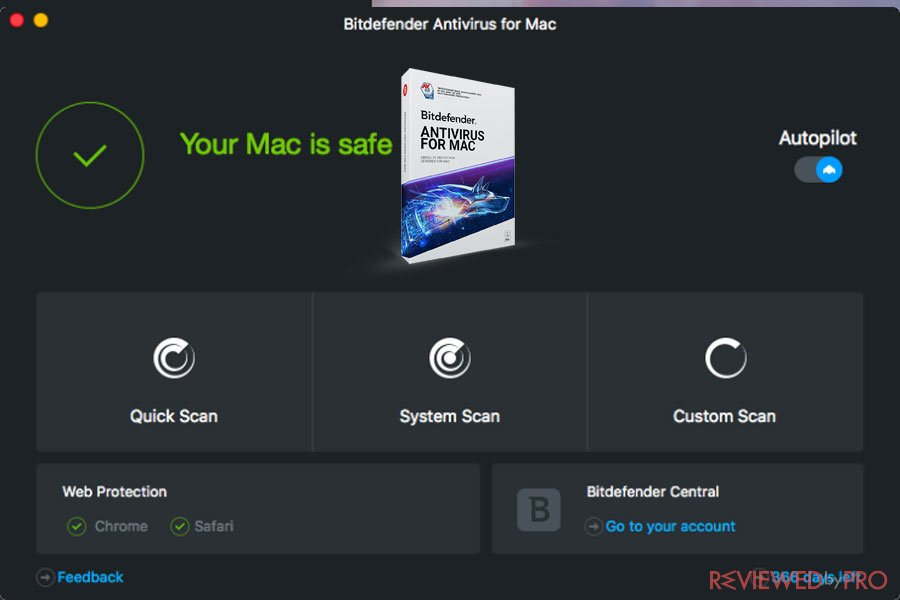 Bitdefender Antivirus for Mac device safe