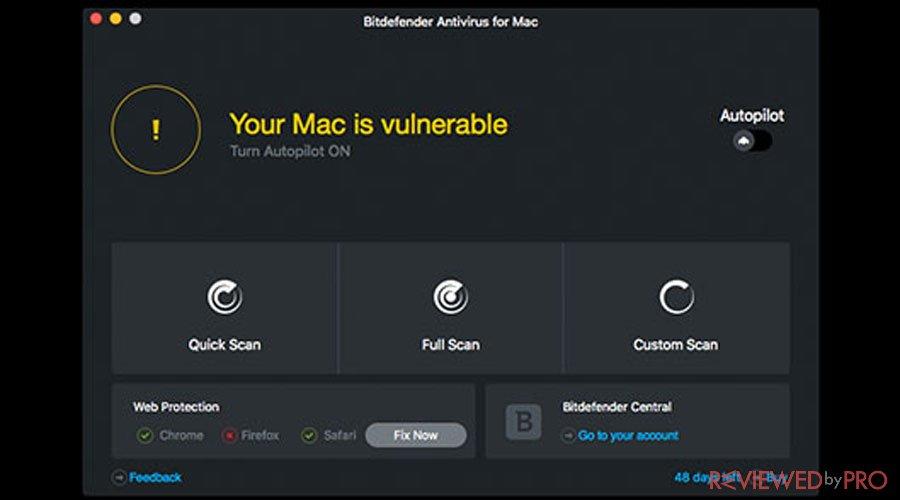 Bitdefender Mac vulnerable system