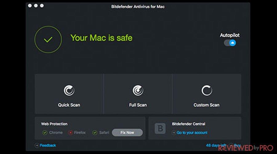Bitdefender safe Mac