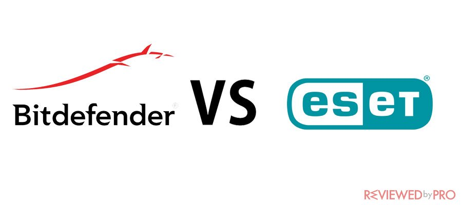 Bitdefender vs ESET antivirus software comparison of 2019