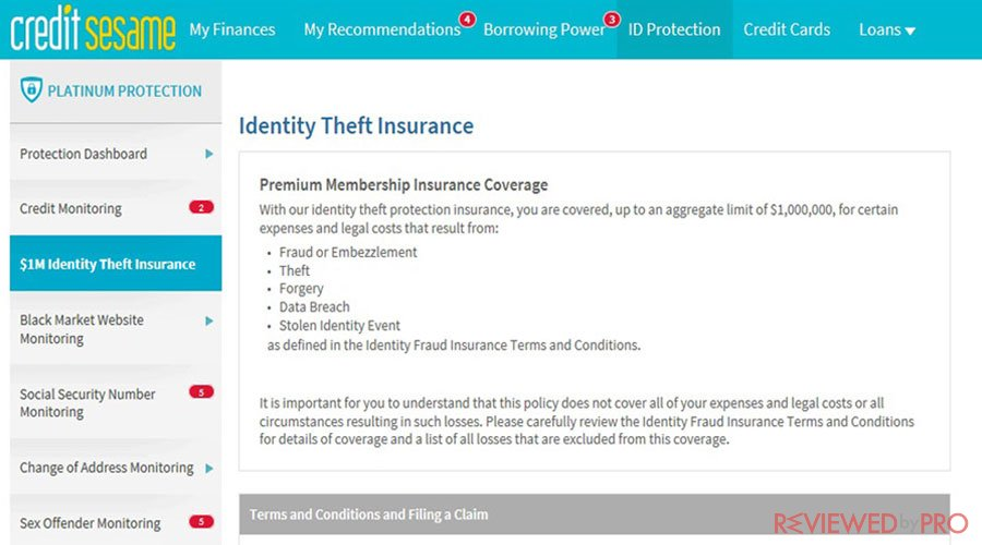 Credit Sesame Identity Theft Insurance