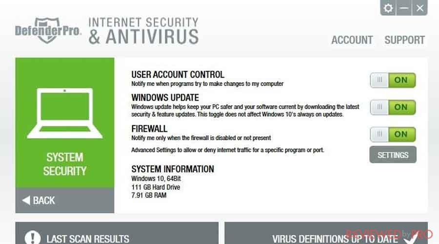 Defender Pro antivirus