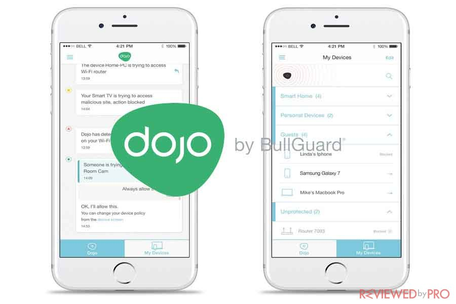Dojo By BullGuard App chat