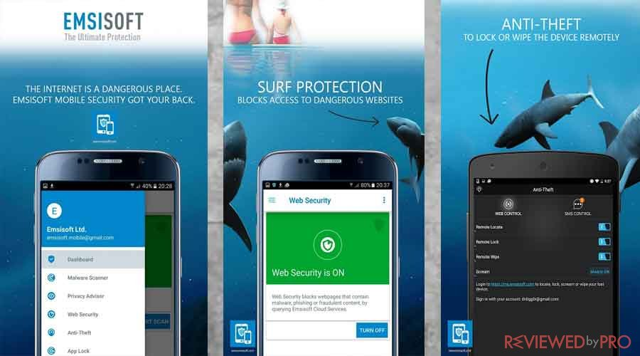 Emsisoft mobile security features