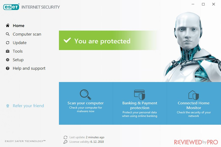 ESET Security Protected