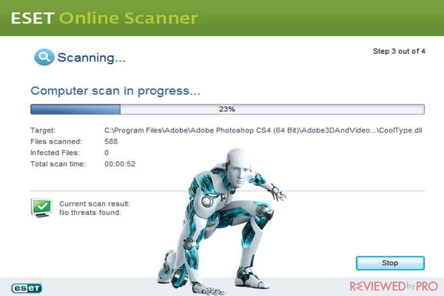 Free Online Virus Scan from ESET