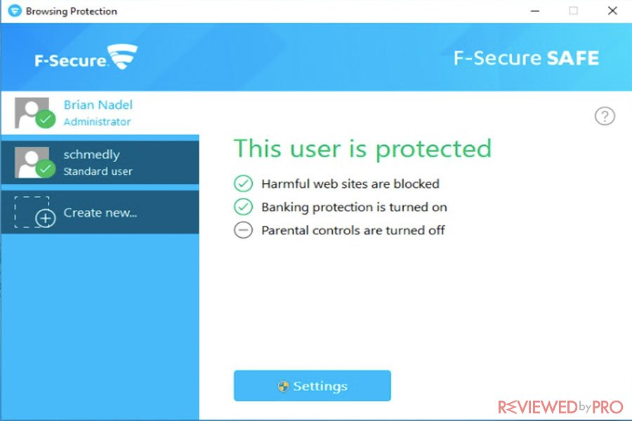 F Secure Browsing Protection