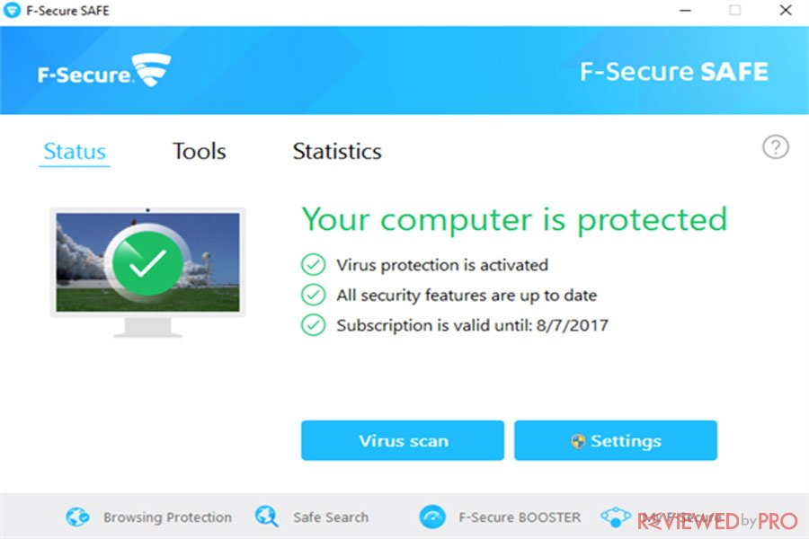 F Secure protected
