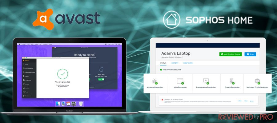 free mac security avast and sophos