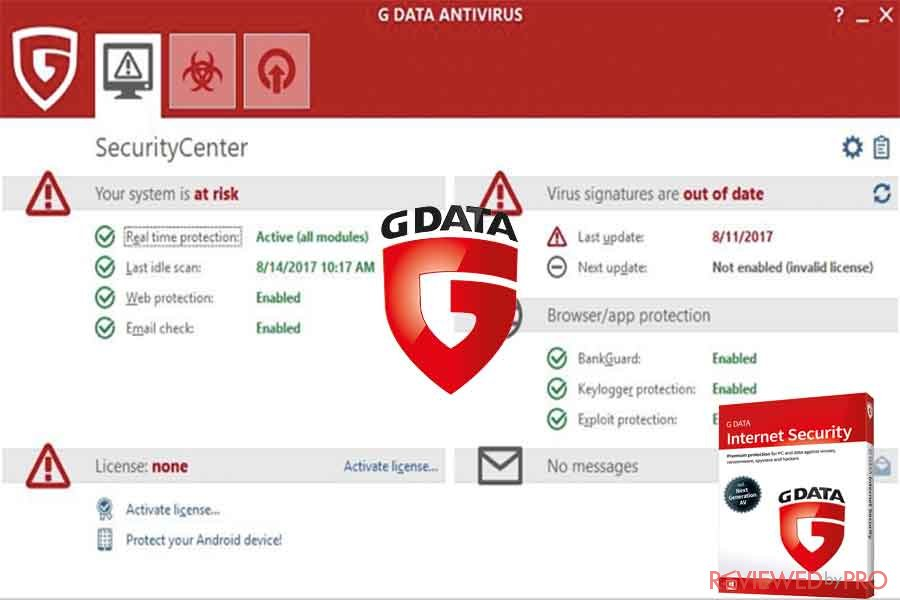 G Data antivirus protection