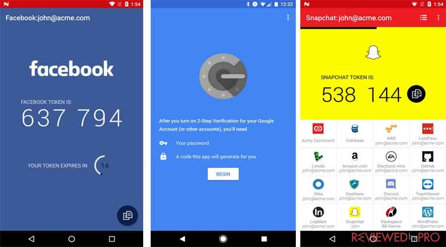 Authenticator Apps Authy Google