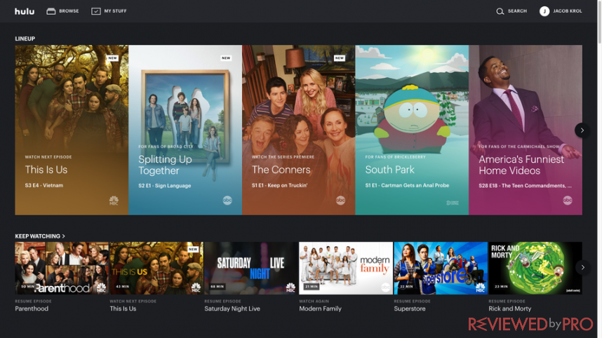 hulu interface