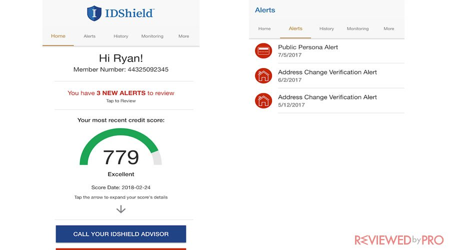 IDShield Mobile Screenshot