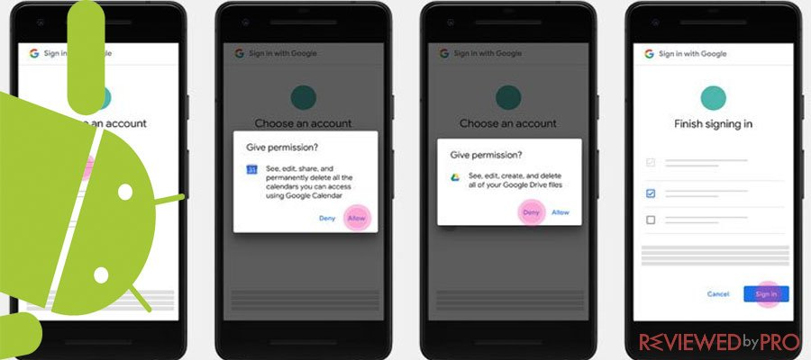 Increased level of security for Android devices: restricted Call Log & SMS permissions for Apps
