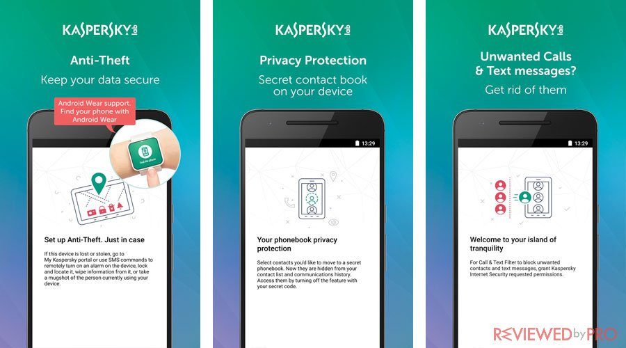 Kaspersky android features