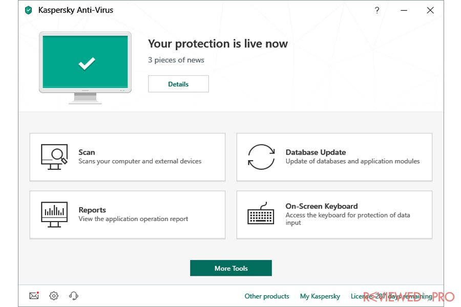 Kaspersky Antivirus is Active