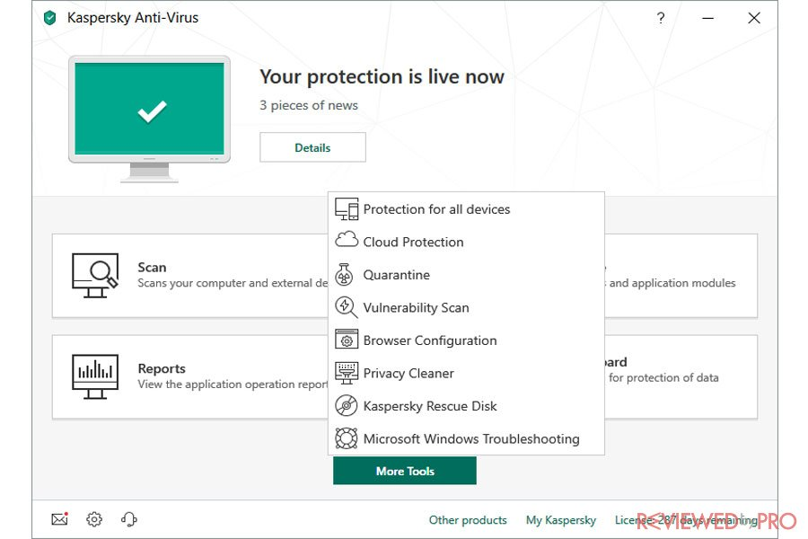 Kaspersky Protection is On