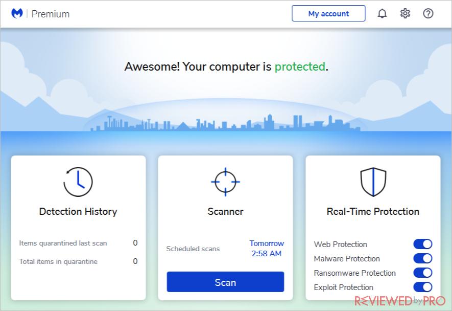 malwarebytes user interface