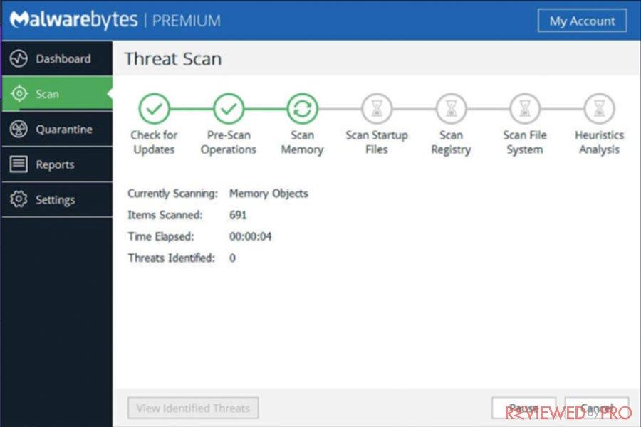 Malwarebytes Scan