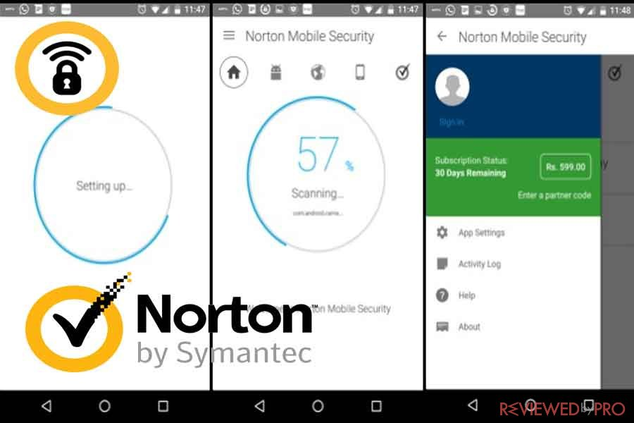 Norton Mobile Security and Antivirus protection