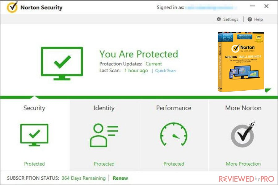 Norton Small Business protected