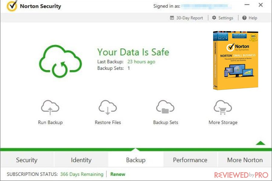 Norton Small business safe data