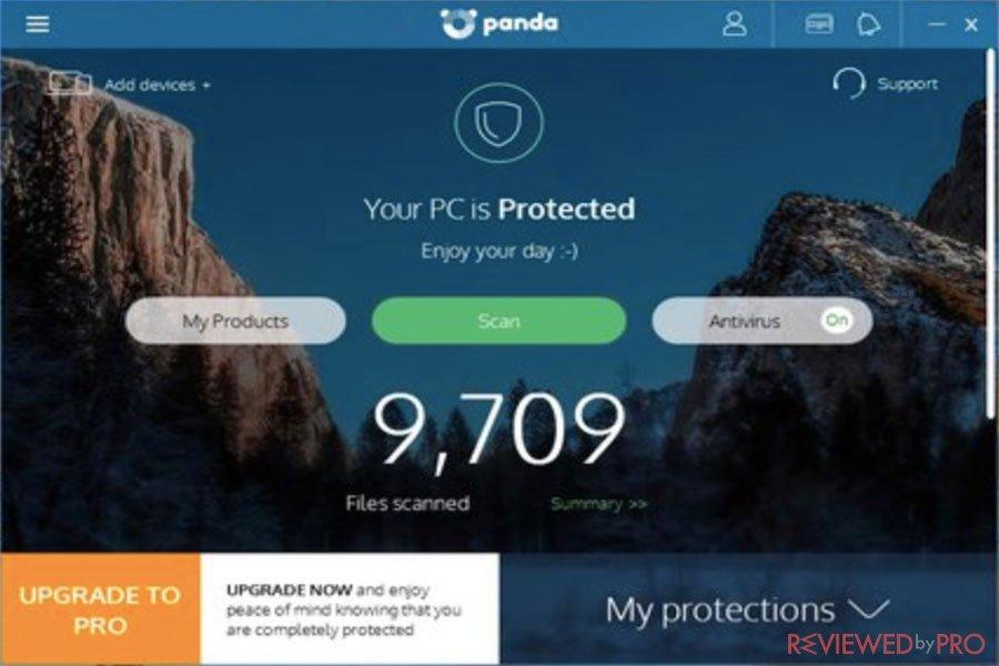 Panda Free Protected