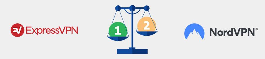 expressvpn versus nordvpn comparison price