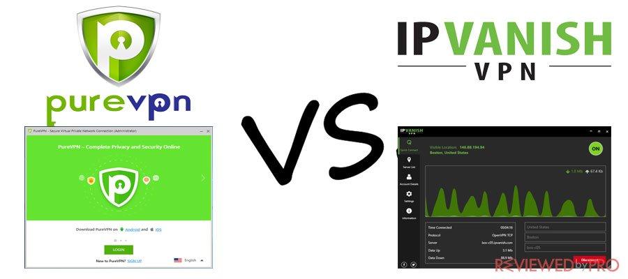 PureVPN VS IPVanish