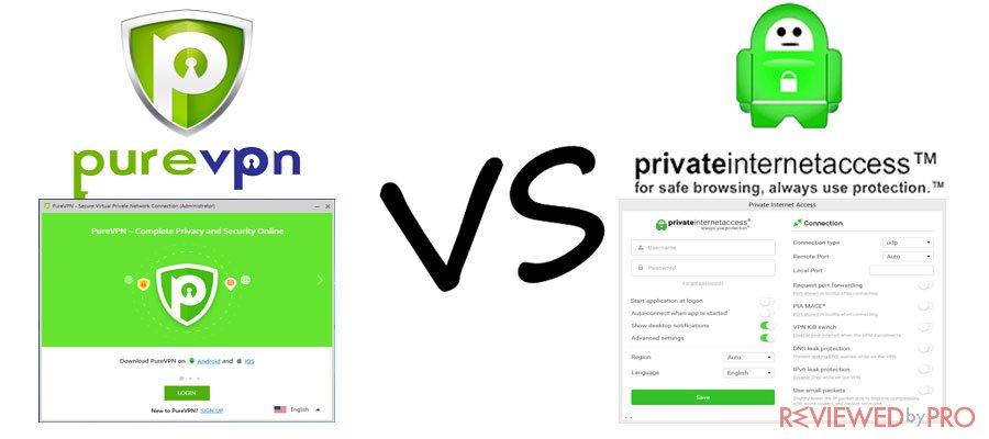 PureVPN VS Private Internet Access (PIA) VPN