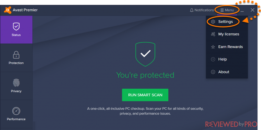 remove avast email signature