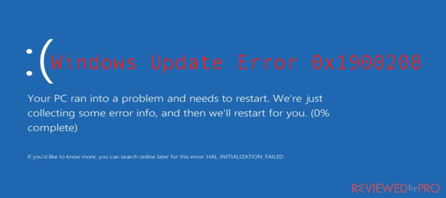 Resolve the windows update error 0x1900208