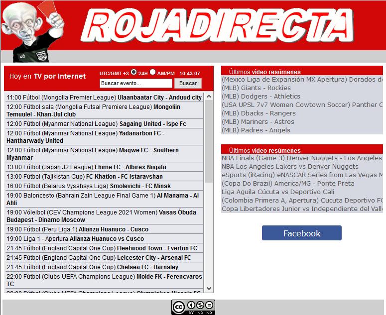 Free Online Sport streaming platform - Roja Directa