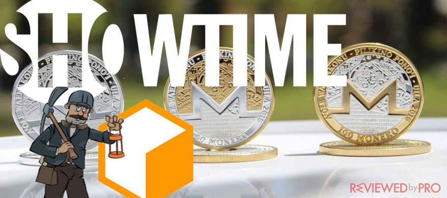 showtime coinhive cryptocurrency