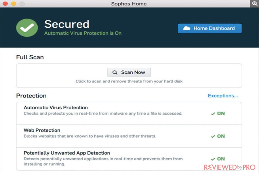 sophos home antivirus for mac