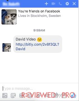 Fake spam link