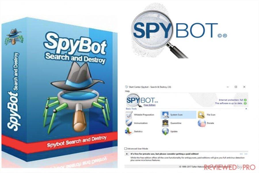SpyBot antivirus tool