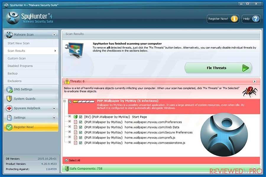 SpyHunter malware removal