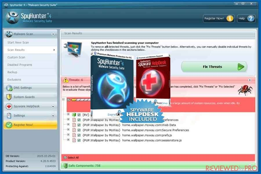 SpyHunter HelpDesk tech support Tool